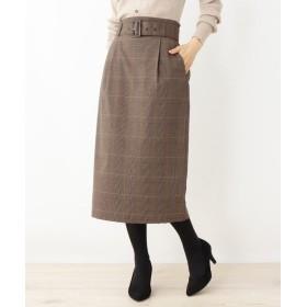 grove(グローブ) 共地ベルト付きタイトスカート