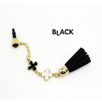 Innova Global Leather earphone jack series - Tussel long - Black KLFJK-BK