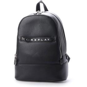 リプレイ REPLAY エコレザー ミニバックパック (ブラック)