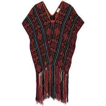 《セール開催中》MIGUELINA レディース ビーチドレス ブラック one size ポリエステル 100%