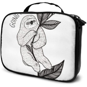 Sloth1 Travel Makeup Train Case Makeup Cosmetic Case Organizer Portable Artist Storage Bag Makeup Brushes Toiletry Jewelry Digital Accessories