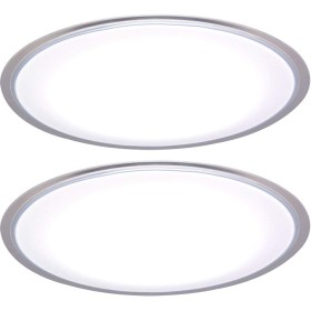 【2個セット】LEDシーリングライト 5.0シリーズ クリアフレーム 8畳調光