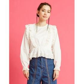リトルサニーバイト little sunny bite lacy blouse (WHITE)