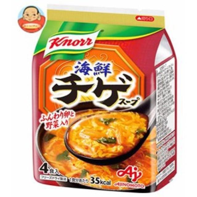 【送料無料】味の素 クノール海鮮チゲ スープ 4食入 37.6g×10袋入