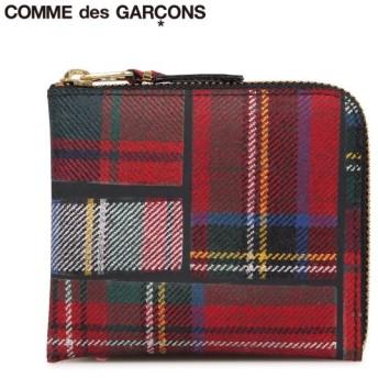 コムデギャルソン COMME des GARCONS 財布 小銭入れ コインケース メンズ レディース L字ファスナー 本革 タータンチェック SA3100TP 1/10 再入荷
