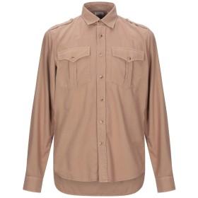 《期間限定セール開催中!》BRUNELLO CUCINELLI メンズ シャツ キャメル S コットン 100%