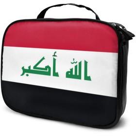 イラク国旗旅行メイクアップバッグポータブル化粧トレインケース用女性化粧品ケース収納オーガナイザーメイクアップツール