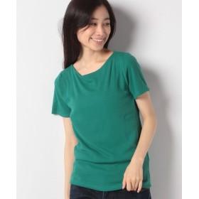 【40%OFF】 神戸レタス 前身二重半袖Tシャツ(Bネック) レディース グリーン L 【KOBE LETTUCE】 【タイムセール開催中】