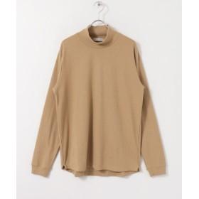 センスオブプレイス リブハイネックTシャツ メンズ BEIGE M 【SENSE OF PLACE】