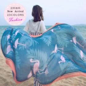 ストール 大判 レディース 薄手 UVカット 花柄 総柄 ショール 冷房対策 紫外線対策 プリント 海 ビーチ 運転 おしゃれ 夏用 サマー 送料