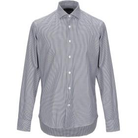 《期間限定セール開催中!》LES COPAINS メンズ シャツ ブラック 40 コットン 100%