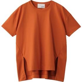 SALE 【30%OFF】 y/m イム 30/3 Corce Cotton ヘムスリット TOP オレンジ