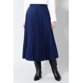 《B ability》ライトサテンセットアップスカート ブルー