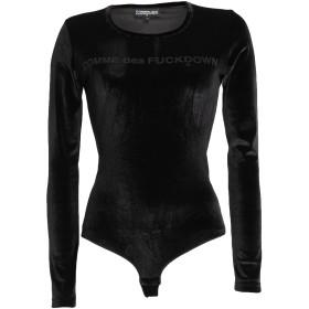 《セール開催中》COMME DES FUCKDOWN レディース T シャツ ブラック M ポリエステル 95% / ポリウレタン 5%
