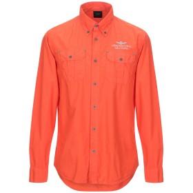 《セール開催中》AERONAUTICA MILITARE メンズ シャツ オレンジ M コットン 100%