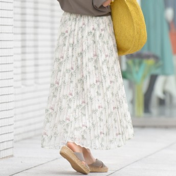 socolla(ソコラ)/【socolla】【WEB別注】プリントプリーツスカート