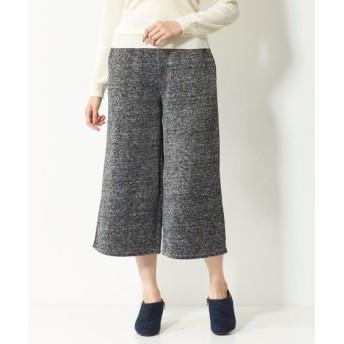 オトナスマイル冬号モニター人気2位裏起毛ニットソーワイドクロップドパンツ(オトナスマイル) (大きいサイズレディース)パンツ, plus size pants, 子, 子