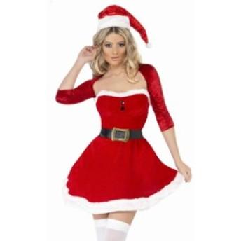 セクシーなサンタのコスチューム クリスマス コスプレ サンタクロース ミニワンピース 仮装 パーティー イベント