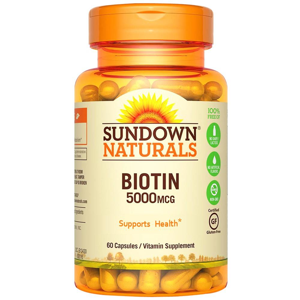 【Sundown日落恩賜】高單位生物素5000mcg(60粒/瓶)(效期至2021/6/30)[即期品現貨]