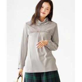 フリルデザインカットソートップス(ヴェールダンス) (大きいサイズレディース)T-shirts, T恤, plus size