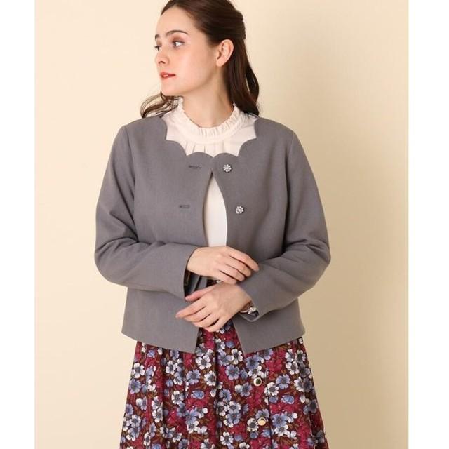 Couture Brooch / クチュールブローチ 【WEB限定サイズ(LL)あり/手洗い可】スカラネックジャケット