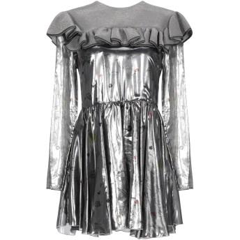 《セール開催中》AU JOUR LE JOUR レディース ミニワンピース&ドレス 鉛色 40 シルク 64% / ポリエステル 36% / レーヨン / ナイロン / 指定外繊維
