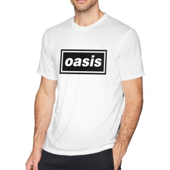 Tシャツ Man OASIS オアシス 半袖 ブラック 若者 お出かけ 丸えり 暑い夏 快適 ファション S~6XL
