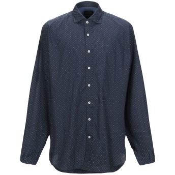 《セール開催中》HACKETT メンズ シャツ ダークブルー S コットン 100%