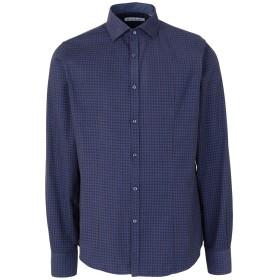 《セール開催中》EN AVANCE メンズ シャツ ブライトブルー L コットン 100%