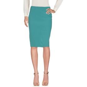 《セール開催中》PIANURASTUDIO レディース ひざ丈スカート グリーン 38 アセテート 79% / レーヨン 18% / ポリウレタン 3%