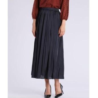 7-IDconcept / セブンアイディーコンセプト 《大きいサイズ》サテンプリーツスカート