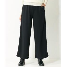 裏起毛ロングフレア9分丈ワイドパンツ(ゆったりヒップ) (大きいサイズレディース)パンツ,plus size