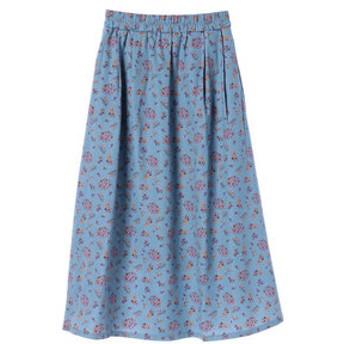 【Green Parks:スカート】花柄ギャザーロング丈スカート
