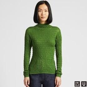 メリノブレンドシャーリングセーター(長袖)