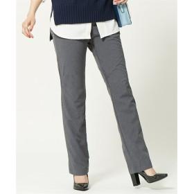 2WAYストレッチあったか裏フリースストレートイージーパンツ(ゆったり太もも)(選べる2レングス) (大きいサイズレディース)パンツ, plus size pants, 子, 子