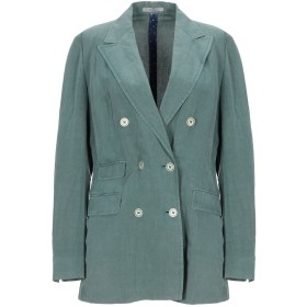 《セール開催中》BOGLIOLI レディース テーラードジャケット グリーン 40 シルク 54% / 麻 46%