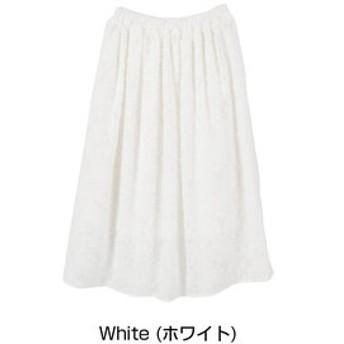 【titivate:スカート】花柄ジャガードシフォンスカート