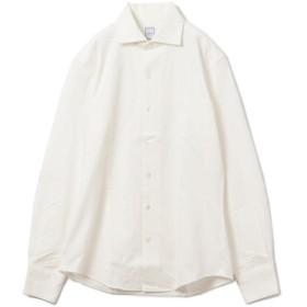 【シップス/SHIPS】 SD: 【ALBINI社製生地】 ヘリンボーン ジャージー ワンピースカラー シャツ