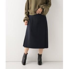 スピック&スパン キルトスカート(WOOL SERGE) レディース ネイビー フリー 【Spick & Span】