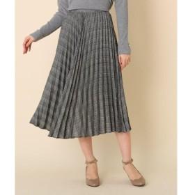 Couture Brooch / クチュールブローチ 【WEB限定サイズ(LL)あり/手洗い可】チェックプリーツスカート