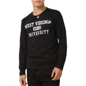 (アーケード) ARCADE アメカジ カレッジロゴ ロンT ロングTシャツ メンズ (XL, D柄ブラック)