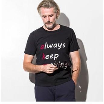 【SHIFFON:トップス】AKM Contemporary(エイケイエムコンテンポラリー) メッセージプリントポケットTシャツ(オフホワイト/ブラック)
