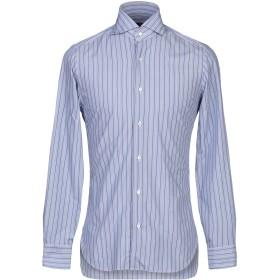 《期間限定セール開催中!》BARBA Napoli メンズ シャツ ブルー 37 コットン 100%