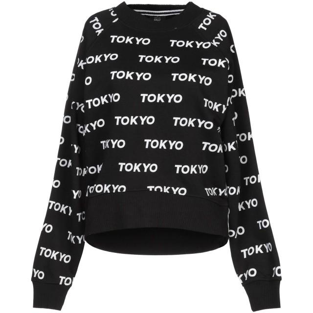 《セール開催中》ONLY レディース スウェットシャツ ブラック XS コットン 100% / ポリエステル