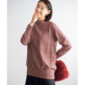 プリーツデザインチェック柄ブラウス(オトナスマイル) (大きいサイズレディース)Shirts, 衫, 襯衫, plus size