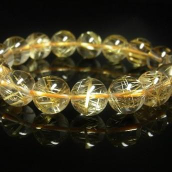 極上天然石 現品一点物 タイチンルチル ブレスレット 金針水晶 12ミリ 44g 1点物 GTR13 厳選 最強金運