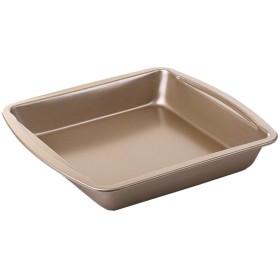 トレイオーブンベーキングトレイ 10インチ四角い深焼き皿ケーキパンピザ皿ノンスティックコーティング金型家庭用オーブン WFGNG