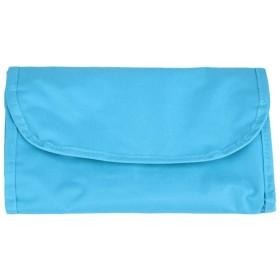 ポータブル折り畳み式ジッパー化粧ストレージウォッシュバッグ(青)