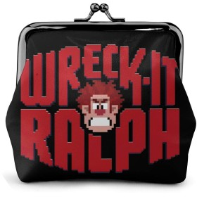 Wreck It Ralph Logo NUBOMINI 小銭入れ 化粧品収納 財布 PU合成皮革 可愛いポーチ アクセサリー収納袋 大容量 ポーチ