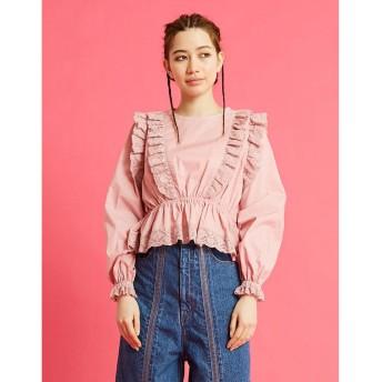 リトルサニーバイト little sunny bite lacy blouse (PINK)